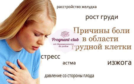 Болит под грудью при беременности