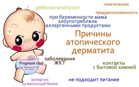 дерматит фото у новорожденных