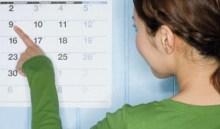 Женщина рассчитывает дату родов